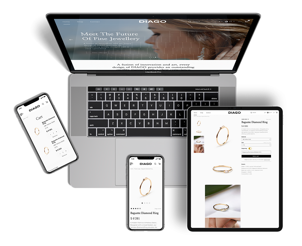Development of an online jewelry store DIAGO